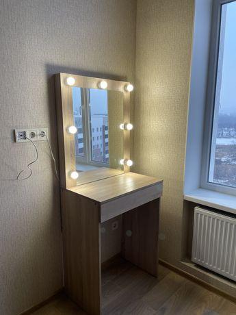 Макияжное зеркало Гримерное с подсветкой столик бровиста визажное