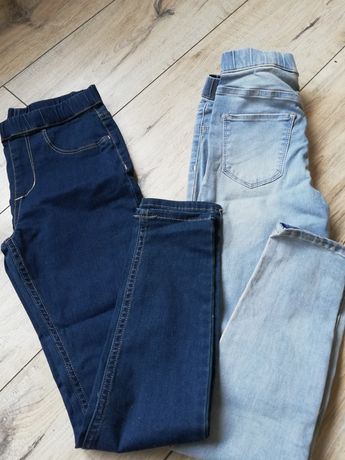 Legginsy jeansowe H&M Nowe 140cm