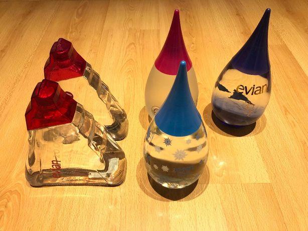 EVIAN cinco garrafas de edição limitada