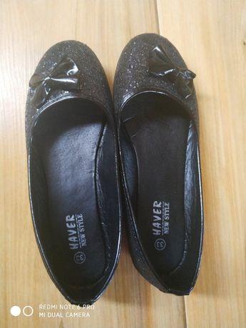 buty balerinki czarne dla dziewczynki