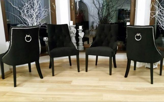 Nowość Krzesło z kołatką + ćwieki tapicerowane
