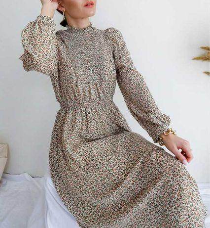 Модное платье в нежный цветочнй принт