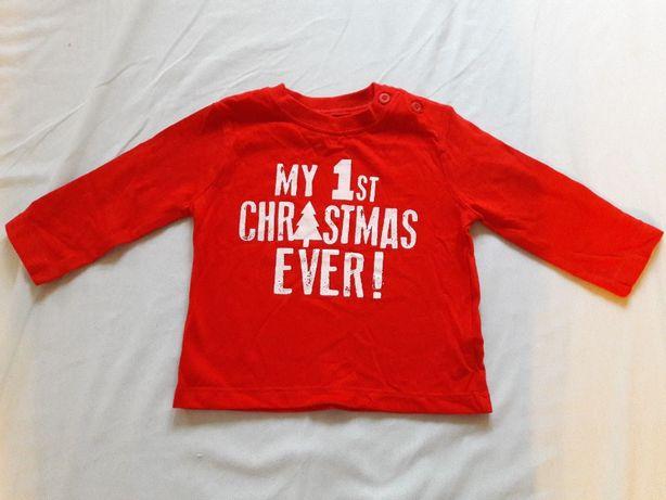 t-shirt my 1st christmas ever! Moje 1 święta czerwona koszulka