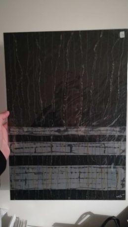 Pintura colagem abstracta a lápis de cera, cola, papel vegetal