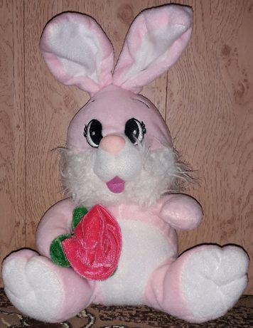 Зайчик  с  розой