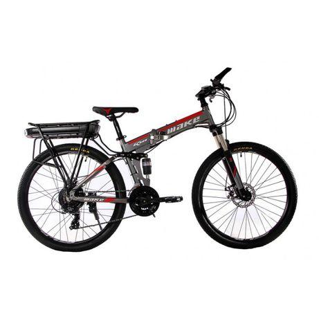 "Електровелосипед складаний МАКЕ 36V18Ah500W 26"" рама 17"" алюмінієвий"