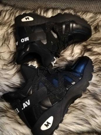 Czarne super buty botki sportowe półbuty roz.38 NOWE
