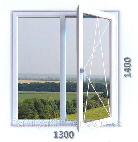 Окно металлопластиковое 1300*1400. Бесплатная доставка. Гарантия 5л.