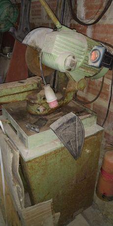 Serra disco trifásica, cortar, ferro, metais