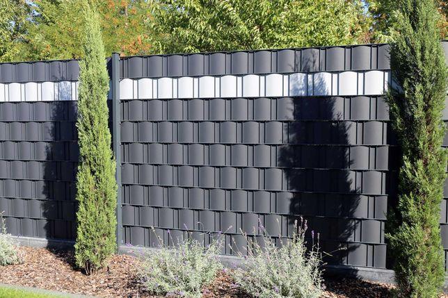 TAŚMA ogrodzeniowa Panel DO PANELI 153cm grafit od ręki! KRAK FENCE