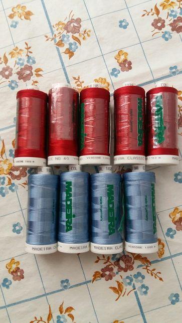 Шелковые нитки для машинной вышивки немецкие