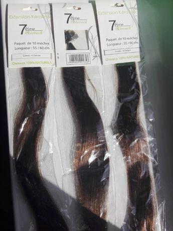 Włosy do przedłużania na keratynę 55/60cm kasztanowy