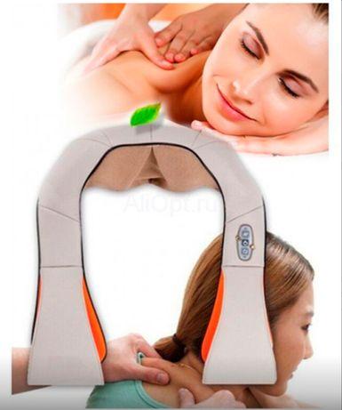 Массажер для шеи и спины роликовый Massager of Neck Kneading