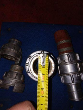 Szybkozłączki strażackie + prądownica