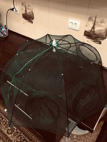 Раколовка | Ловушка для раков | Раколовка зонт | 6-8 входов