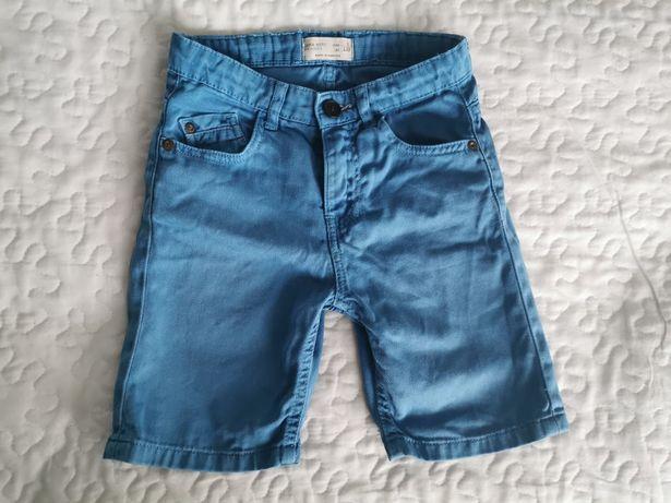 Krótkie spodenki ZARA 110 szorty niebieskie dżinsy slim fit