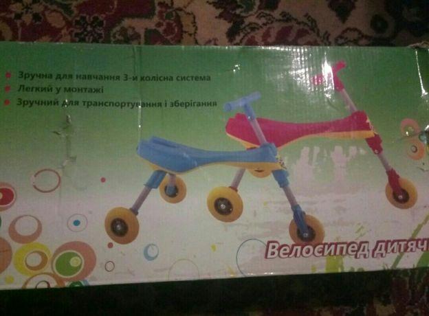 детский велосипед,новый!