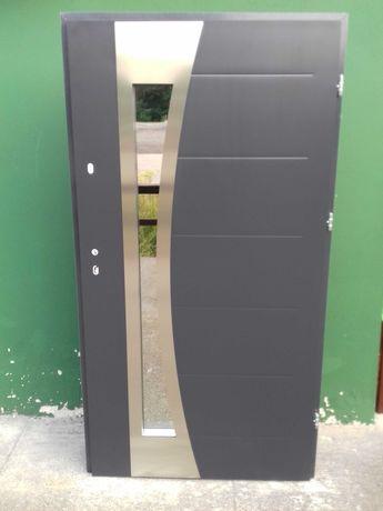 - 35 % Wyprzedaż Ekspozycji Drzwi Zewnętrzne 72mm AntracytStru 111x208