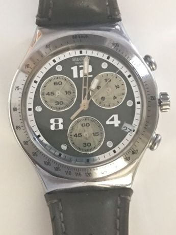 Relógio Swatch Cronógrafo Irony Stainless Steel