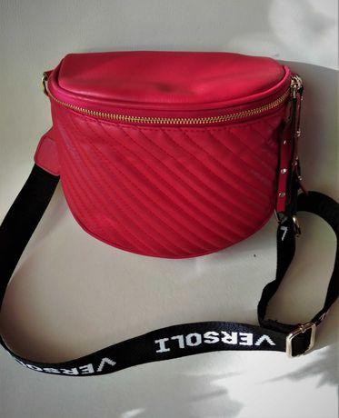 VERSOLI - pikowana torebka damska - nerka