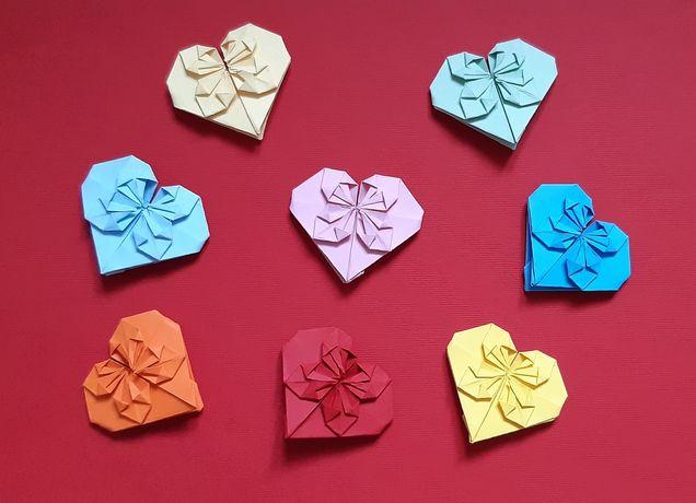 Dekoracje, papierowe serca