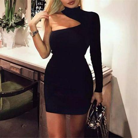 Mała sexi mini czarna sukienka