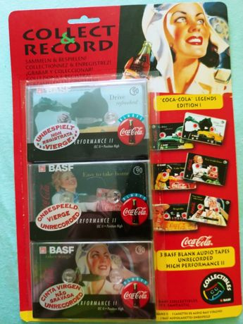 BASF 90 coca cola legends edition Chromowe Kasety magnetofonowe