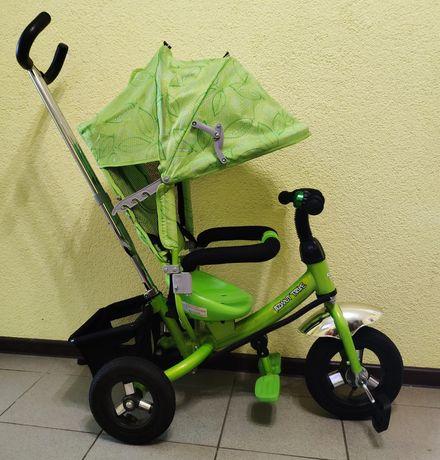 Детский велосипед-коляска Azimut Trike с надувными колесами