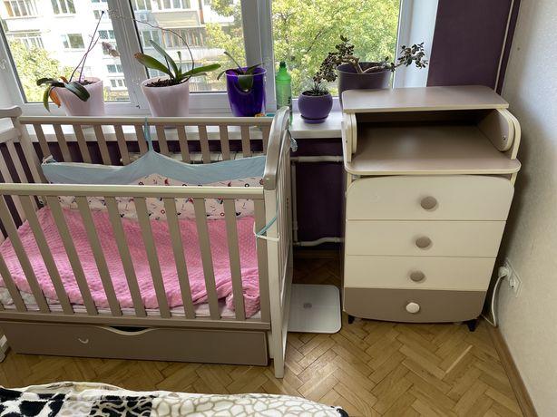 Детская кроватка верес соня лд6 +матрас+ комод пеленатор