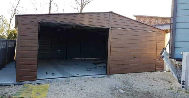 Imitacja Drewna Profil! Premium Garaż Blaszak 7x6 II-spad