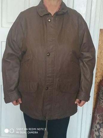 Шкіряна куртка осінньо зимова