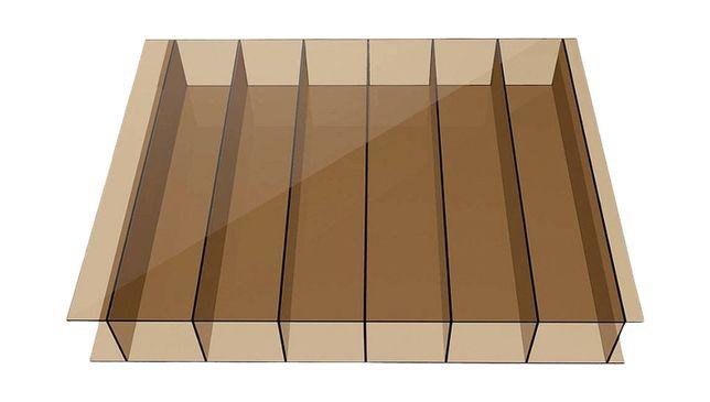 Poliwęglan komorowy brązowy 6 mm, UV, 2.10*6m