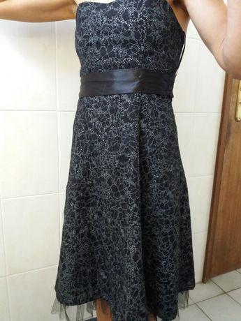 Vestido preto prateado Tamanho 34