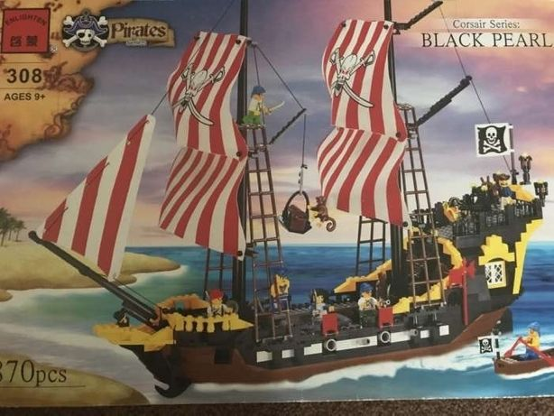 Конструктор(типа LEGO) BRICK пираты корабль
