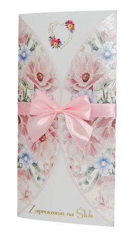 Zaproszenia na ślub i wesele - kolekcja FLOWERS 12 + koperta