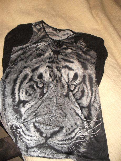 Quiz bluzka z tygrysem