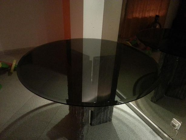 Mesa, tampo de vidro