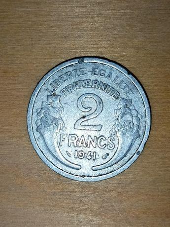Francja 2 Franki 1941 r., moneta