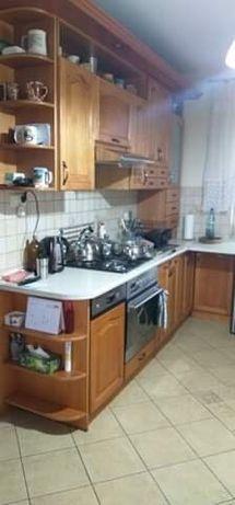 Zestaw mebli kuchennych drewnianych + AGD