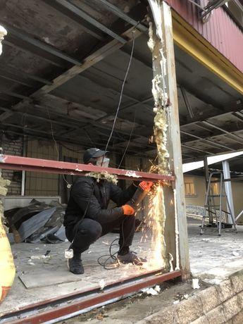 Демонтаж Киев, стяжки, плитки, штукатурки, стен, ванны