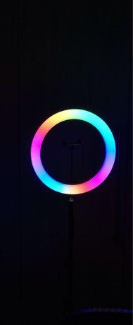 Кольцевая RGB MJ33 см Лампа! Штатив 2.1 м !Разные Цвета!