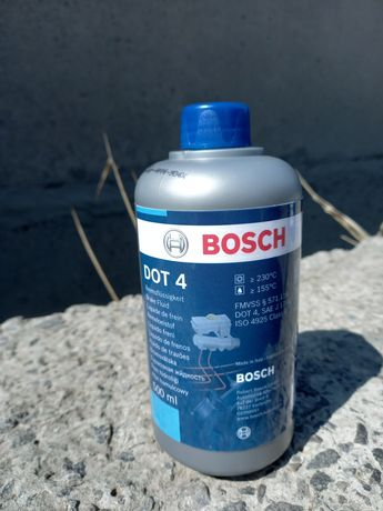 Тормозная жидкость BOSCH DOT4, 0,5 л.