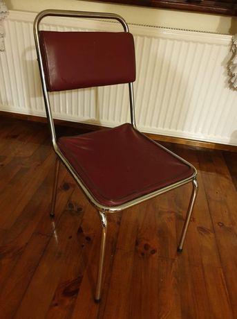 Krzesła metalowe z okresu PRL 6 sztuk
