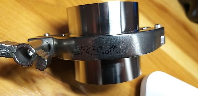 Złącze triclamp nierdzewne dn 63, keg , destylator, spozywcze
