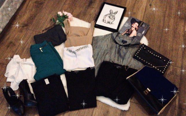 DUŻA PACZKA Zestaw ubrań Roz S (36) + buty i torebki ZARA H&M Topshop