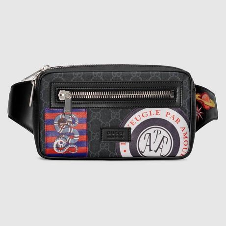 Оригинальная Сумка Gucci Night Courrier Waist Bag GG Soft Black