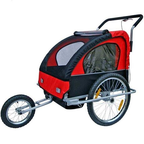 Przyczepka rowerowa dla dzieci czerwona