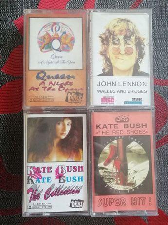 Kasety Queen Lennon Kate Bush