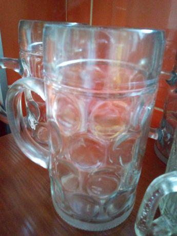 4 duże kufle 1L do piwa z Austrii