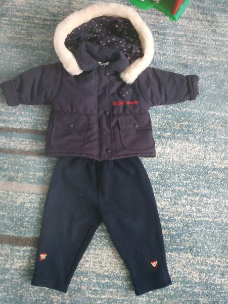Kurtka zimowa +spodnie polarowe 6-12 m-cy
